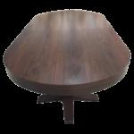 Oval dining poker