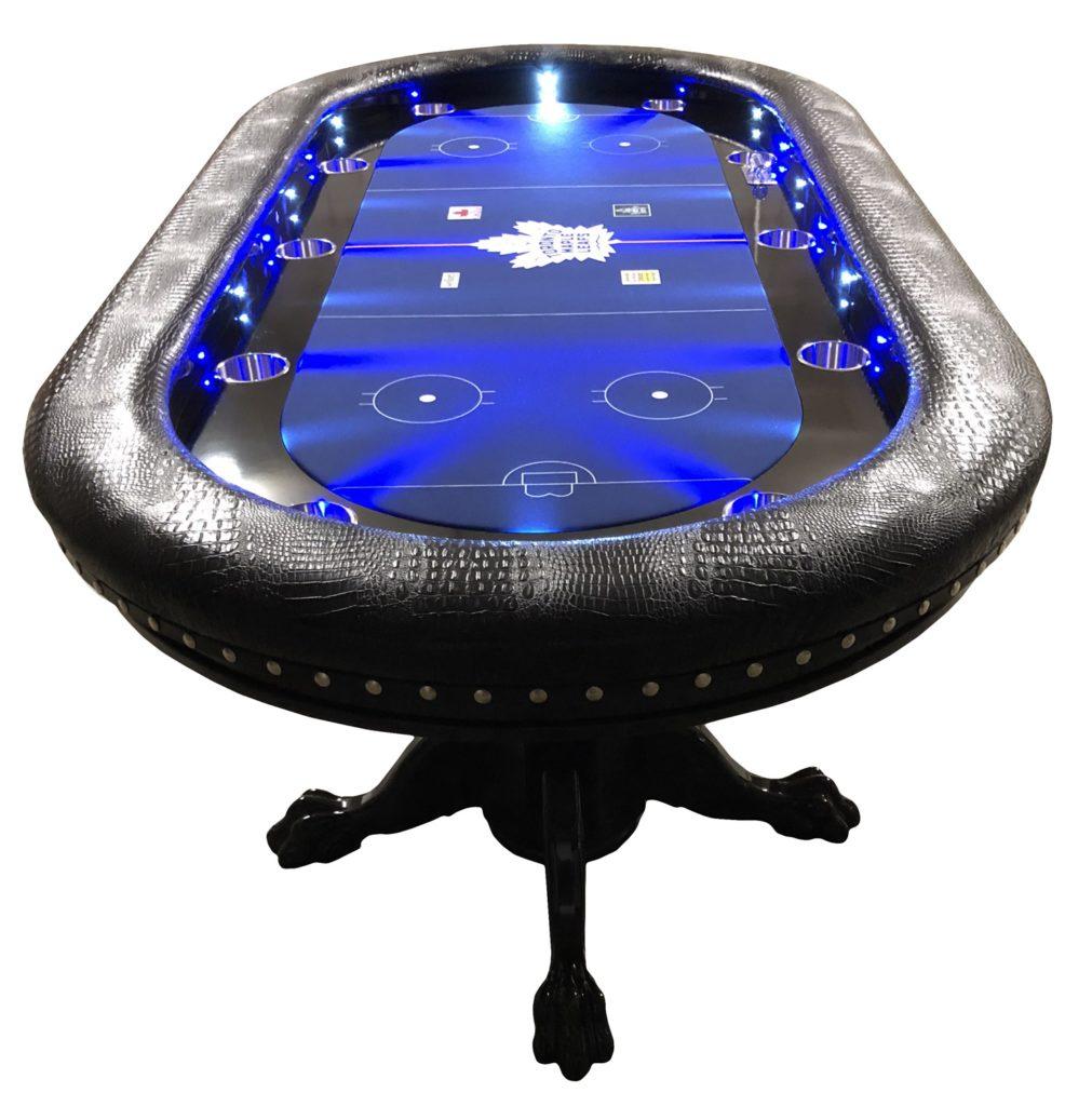 Custom poker tables  Sports themed poker  Round poker table  K